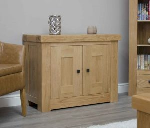 Homestyle Bordeaux Oak 2 Door Small Sideboard | Fully Assembled
