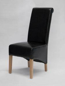 Richmond Black Leather Dining Chair (Pair)