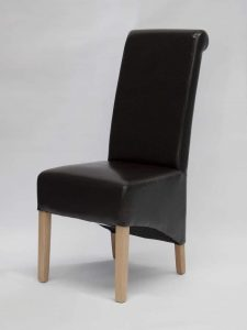 Richmond Brown Leather Dining Chair (Pair)