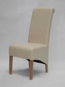 Richmond Ivory Leather Dining Chair (Pair)