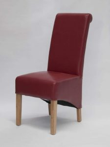 Richmond Red Leather Dining Chair (Pair)