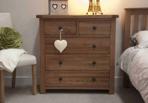 Original Rustic Solid Oak 2 Over 3 Chest