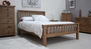 Original Rustic Solid Oak 4'6″ Double Bed