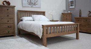 Original Rustic Solid Oak 4'6″ Double Bed