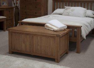 Original Rustic Solid Oak Blanket Box | Fully Assembled