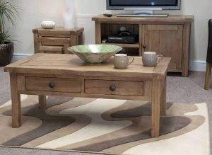 Original Rustic Solid Oak Coffee Table