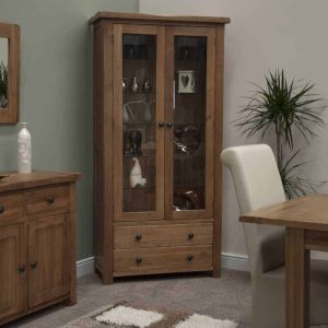 Devonshire Burford Oak Lamp Table with Shelf   Fully Assembled