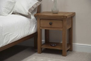 Original Rustic Solid Oak Night Stand