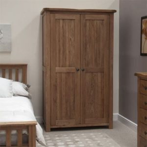 Original Rustic Solid Oak All Hanging Wardrobe