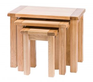 Besp-Oak Vancouver Select Nest of 3 Tables | Fully Assembled