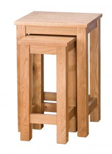 Besp-Oak Vancouver Select Oak Nest of 2 Tables | Fully Assembled