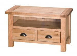 Besp-Oak Vancouver Select Oak TV Unit with 2 Drawers | Fully Assembled