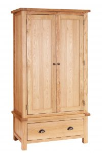 Besp-Oak Vancouver Select Oak Wardrobe with 2 Doors & 1 Drawer