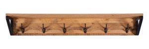 Besp-Oak Forge Oak and Iron Coat Rack