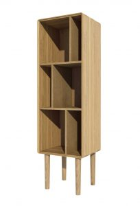 Homestyle Scandic Oak Narrow Bookcase
