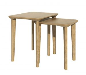 Homestyle Scandic Oak Rectangular Nest of Tables