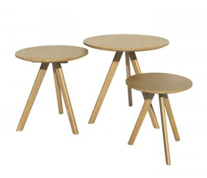 Homestyle Scandic Oak Nest of Round Tables