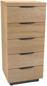 Classic Fusion Industrial Oak 5 Drawer Tall Wellington Chest