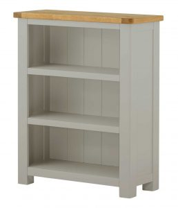 Classic Portland Painted Stone Small Bookcase