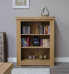 Homestyle Bordeaux Oak Small Bookcase With Two Adjustable Shelves | Fully Assembled