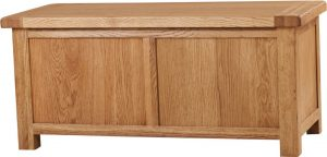 Suffolk Solid Oak Large Blanket Box | Fully Assembled