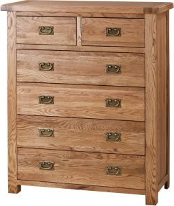 Suffolk Solid Oak 2 over 4 Drawer | Fully Assembled