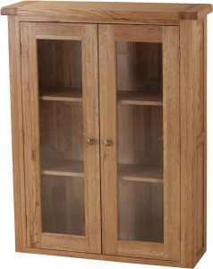 Suffolk Solid Oak 3′ Glass Door Dresser (Top Only) | Fully Assembled