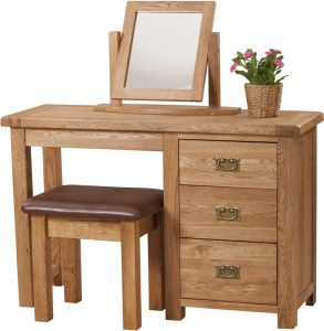 Suffolk Solid Oak Single Dressing Table (only)