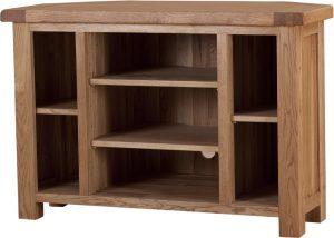 Suffolk Solid Oak Corner TV Unit | Fully Assembled