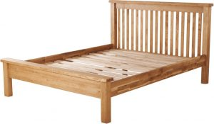 Suffolk Solid Oak 5′ King Size Low Foot End Bed