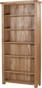 Suffolk Solid Oak 6′ Wide Bookcase 6 Adjustable shelves | Fully Assembled
