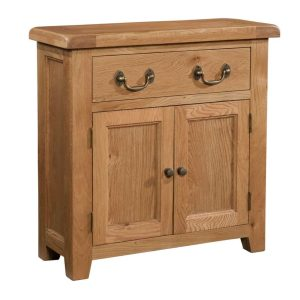 Somerset Waxed Oak Small Sideboard with 2 Doors & 1 Drawer | Fully Assembled