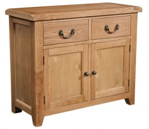 Somerset Waxed Oak 2 Door & 2 Drawers Sideboard | Fully Assembled