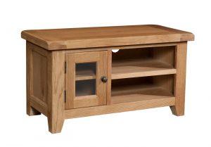 Somerset Waxed Oak Small 1 Door TV Unit | Fully Assembled