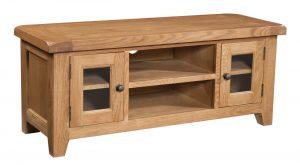 Somerset Waxed Oak Large 2 Door TV Unit | Fully Assembled