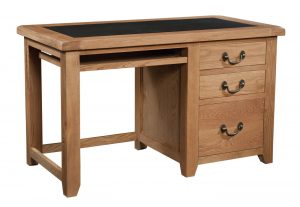 Somerset Waxed Oak Office Desk | Fully Assembled