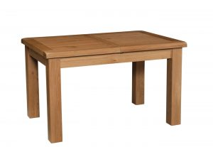 Somerset Waxed Oak 1.2m Small 1 Leaf Extending Dining Table