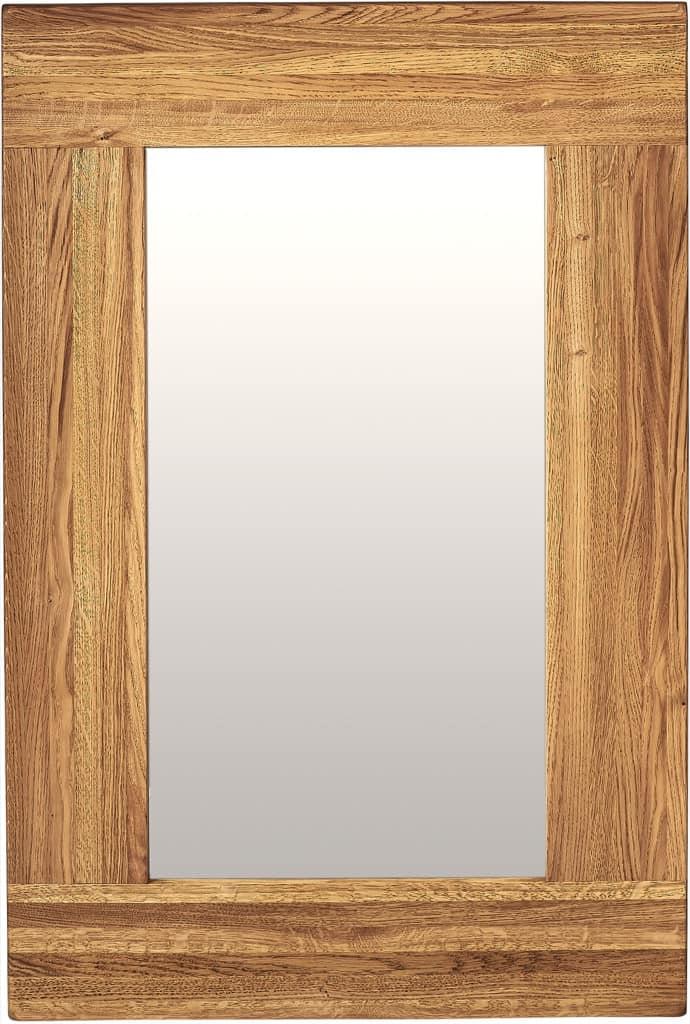 Suffolk Solid Oak Wall Mirror 900X600 | Fully Assembled