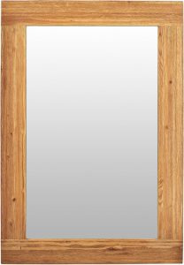 Suffolk Solid Oak Wall Mirror 1300×900 | Fully Assembled