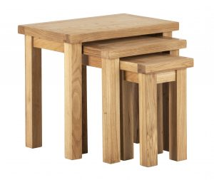 Besp-Oak Vancouver Compact Nest of 3 Tables | Fully Assembled
