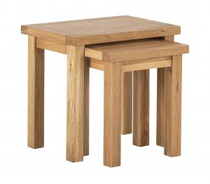 Besp-Oak Vancouver Compact Nest of 2 Tables | Fully Assembled