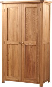 Suffolk Solid Oak Double 2 Door Wardrobe