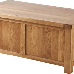 Country Rustic Oak Blanket Box   Fully Assembled