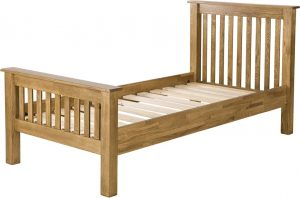 Country Rustic Oak 3′ Single HFE Bed