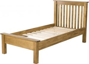 Country Rustic Oak 3′ Single LFE Bed