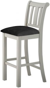 Classic Portland Painted Stone Bar Stool with Grey Seat Pad