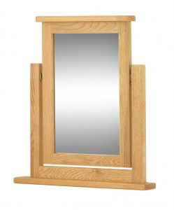 Classic Portland Oak Dressing Table Mirror