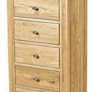Homestyle Scandic Oak 5 Drawer Wellington Chest