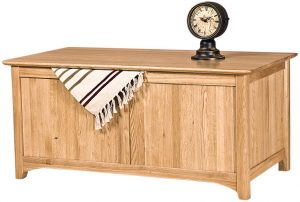 Cambridge Solid Oak Blanket Box | Fully Assembled