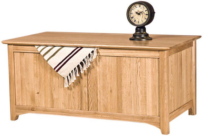 Cambridge Solid Oak Blanket Box   Fully Assembled